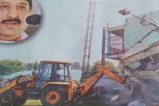 विधायक आरिफ मसूद का खानूगांव में अवैध निर्माण ध्वस्त