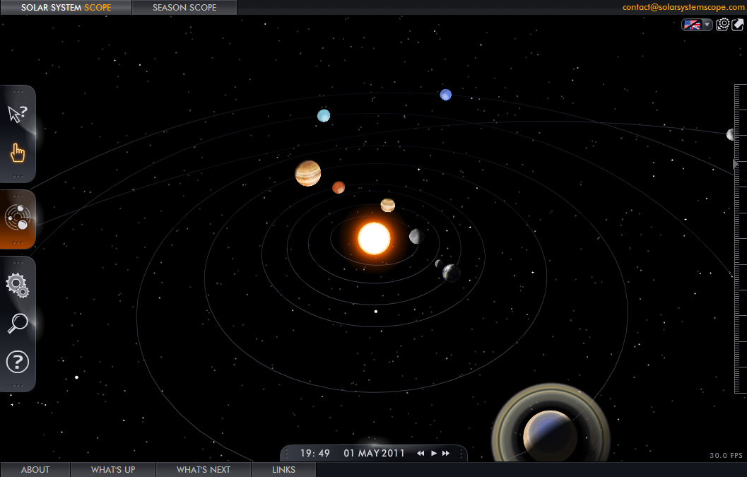 Lemon Harangue Pie: Interactive 3D model of the Solar System