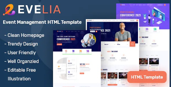 Best Event and Conference Management HTML Template