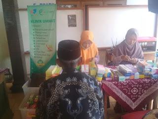 Klinik Ummat Gelar Pengobatan Gratis di Bulu, Sukoharjo