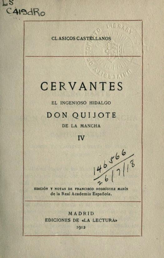 Quijote IV