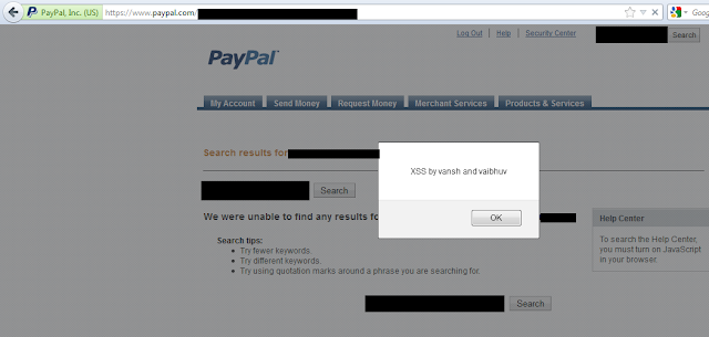 XSS Vulnerability discovered on Paypal