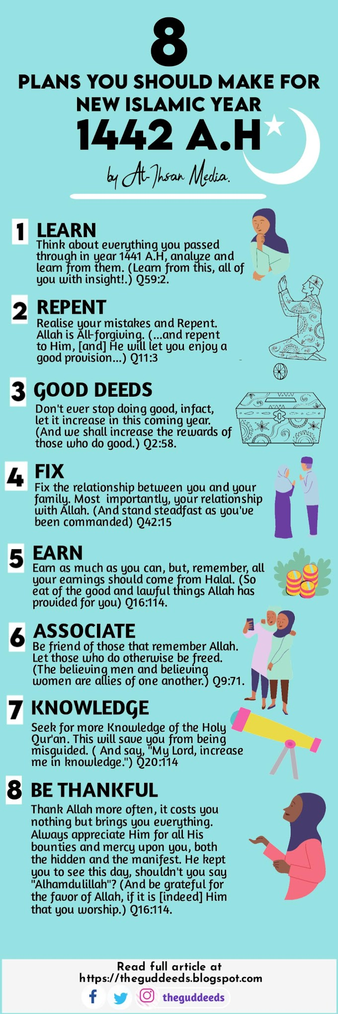 8 Plans You Should Make For New Islamic Year 1442 A.H | Theguddeeds