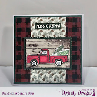 Stamp/Die Duos: Loads of Love, Custom Dies: Scalloped Rectangles, Paper Collection: Rustic Christmas