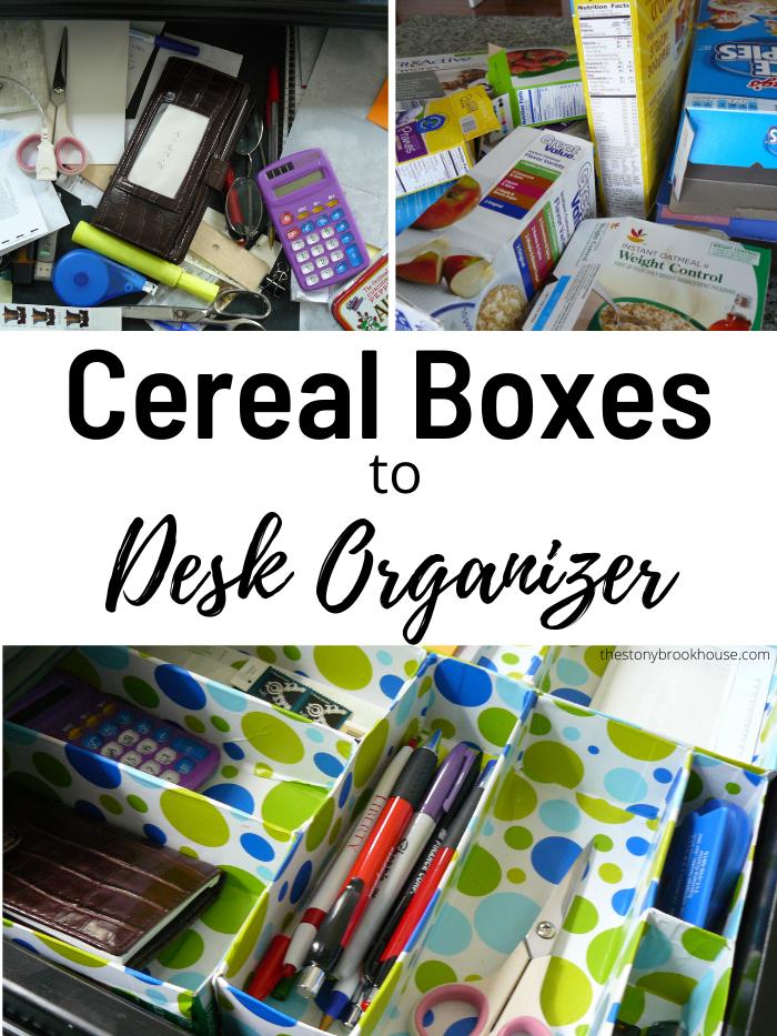 DIY Cereal Box Drawer Organizer