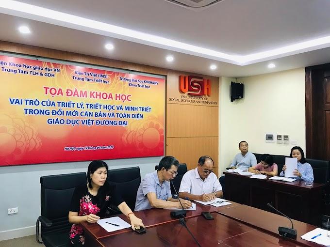 Tọa đàm Vai trò của Triết lý, Triết học, và Minh Triết trong Đổi mới căn bản và toàn diện Giáo dục Việt đương đại