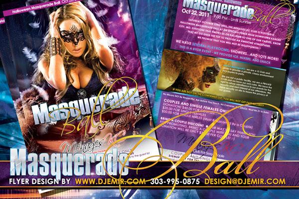 Halloween Masquerade Ball Flyer Design
