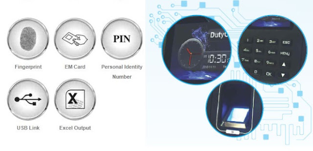realtime t5 biometric time attendance system features