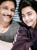 Debattama Saha with her father