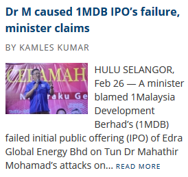 (themalaymailonline) dr-m-caused-1mdb-ipos-failure-minister-claims