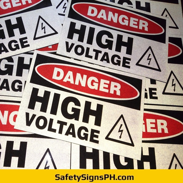 Reflective Danger High Voltage Signs Philippines