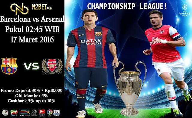 PREDIKSI BOLA EURO MALAM INI - LIGA CHAMPIONSHIP Barcelona vs Arsenal