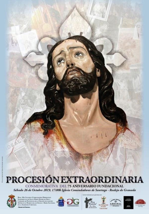 Cartel de la Procesión Extraordinaria del Señor de la Oración en el Huerto de Granada