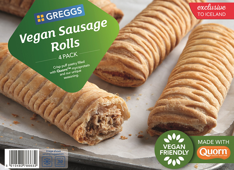 Greggs Vegan Sauage Rolls Iceland