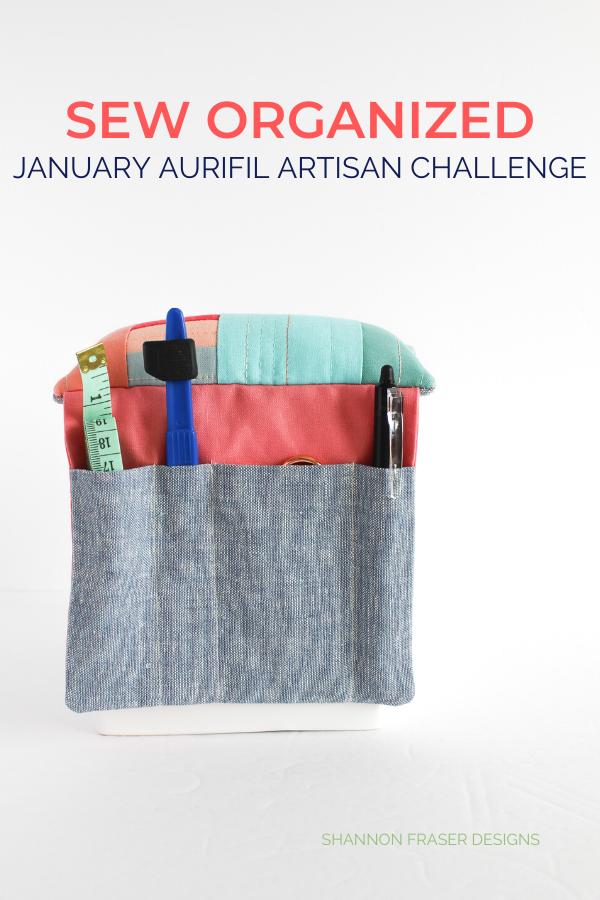 Sew Organized Pin Cushion | January Aurifil Artisan Challenge | Shannon Fraser Designs #pincushion #sewingnotions
