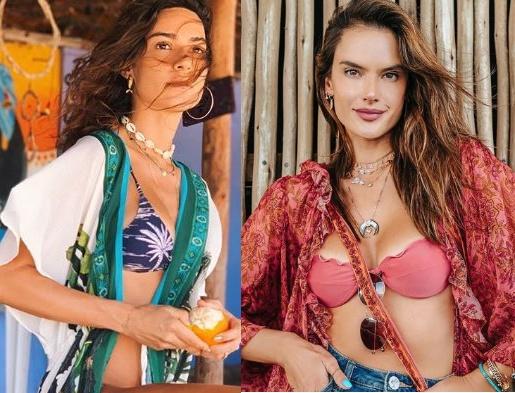 Tendências moda praia 2020, Thaila Ayala, Alessandra Ambrósio