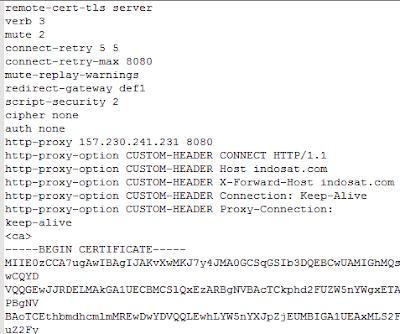 Cara Membuat Config OpenVPN untuk Semua Operator