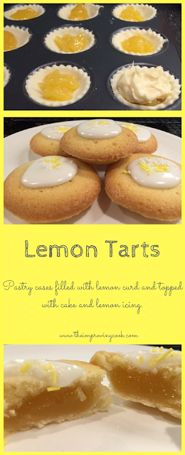 The Improving Cook- lemon tarts pinnable image