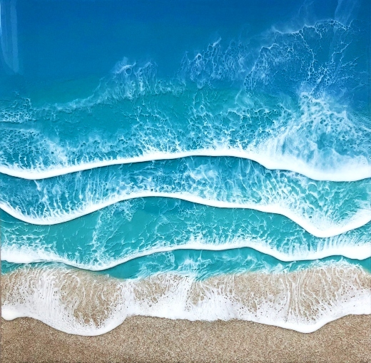 Ocean Beach Resin Wall Art