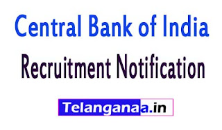 Central Bank of India Recruitment Notification 2017