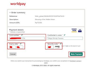 Informasi pembayaran kartu kredit