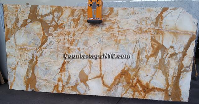 Giallo Siena Marble Slab NYC