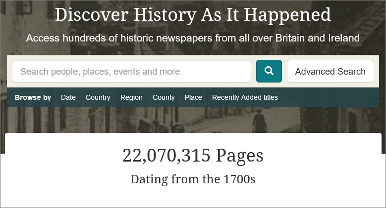 The genes blog british newspaper archive passes 22 milion pages friday 6 october 2017 fandeluxe Gallery