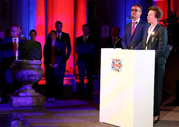 British Princess Anne and Sebastian Coe attend the Team GB British House Reception