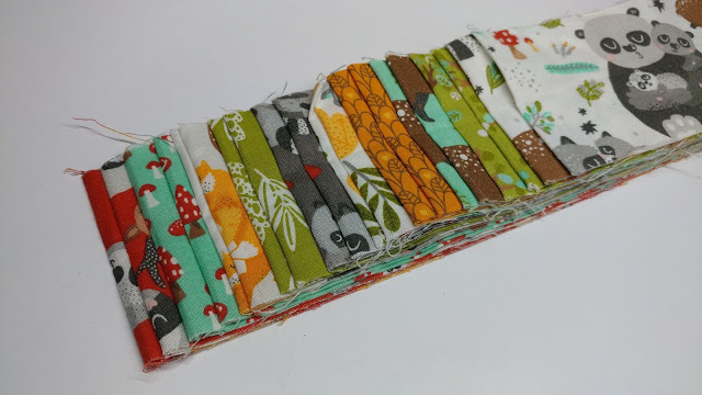 "2.5"" strips of woodland fabric collection"