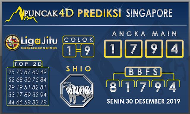 PREDIKSI TOGEL SINGAPORE PUNCAK4D 30 DESEMBER2019
