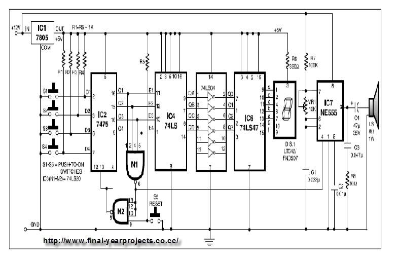 circuit diagram buzzer
