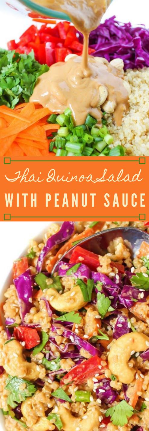 FRESH THAI QUINOA SALAD WITH PEANUT SAUCE #vegetarian #salad #paleo #yummy #diet