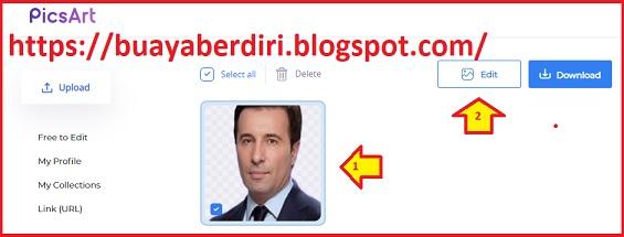 Cara Ganti Background Foto Menjadi Merah di PicsArt secara Online