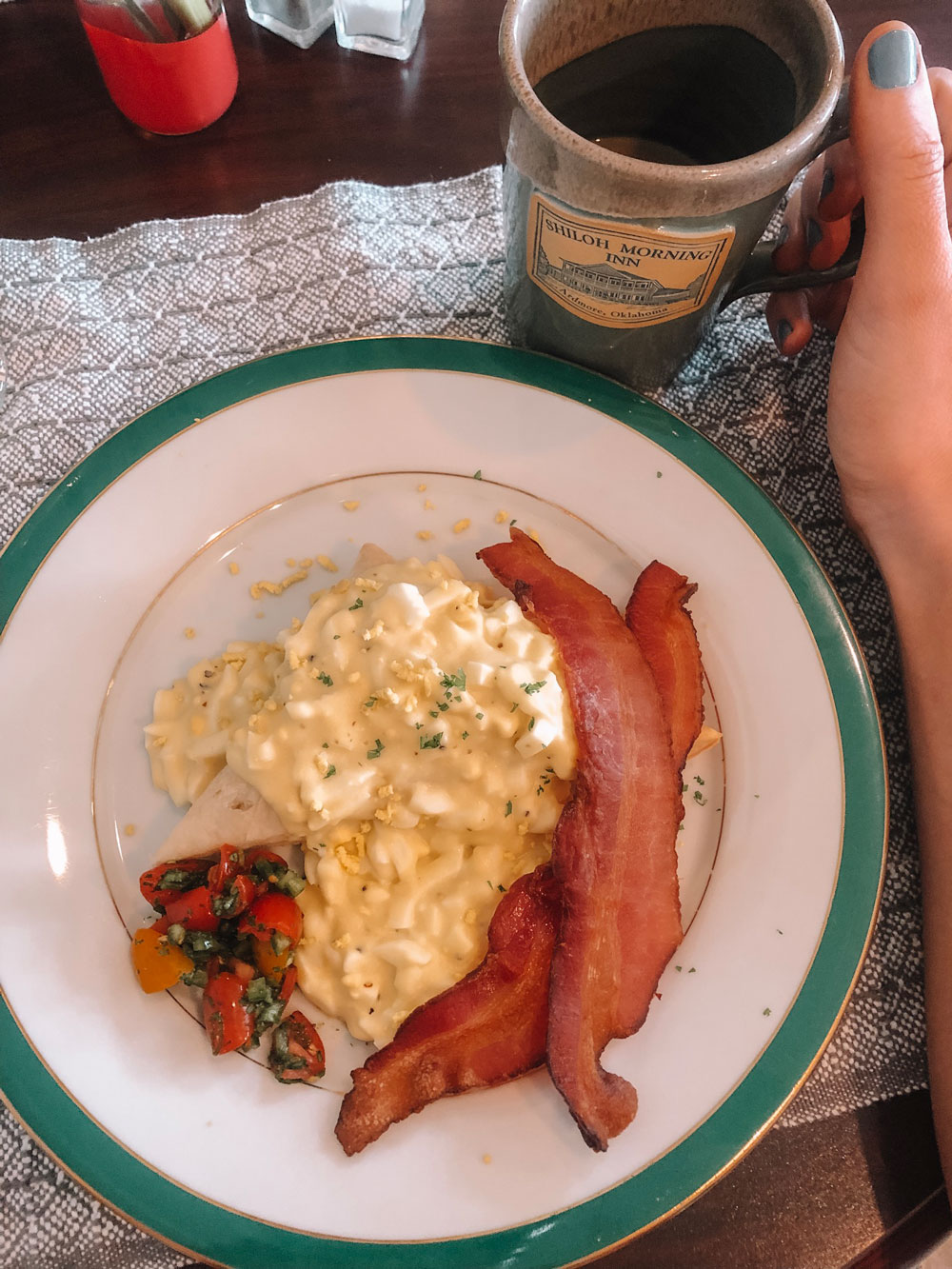 Breakfast at Shiloh Morning Inn B&B