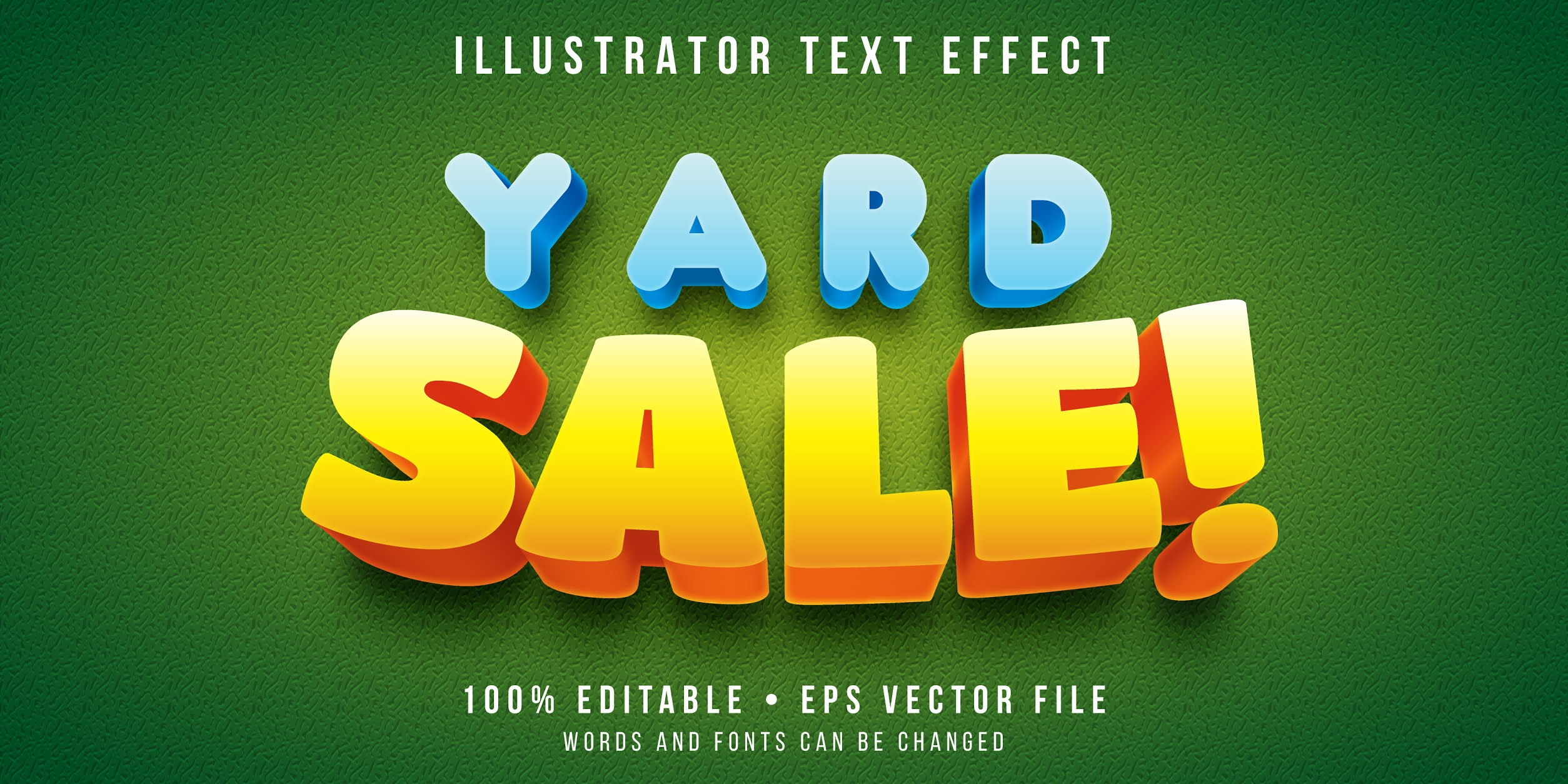 Collection Styles Vector for Illustrator, great professional text effects and styles