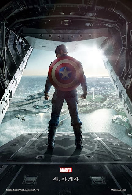 Marvel's Captain America: The Winter Soldier Teaser One Sheet Movie Poster - Chris Evans as Captain America