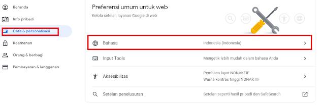 ganti bahasa Google classroom