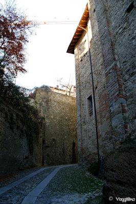 Salita alla zona alta di Castell'Arquato