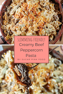 Creamy Beef Peppercorn Pasta Recipe slimming world friendly