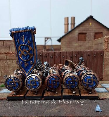 Regimiento enanos con escudo