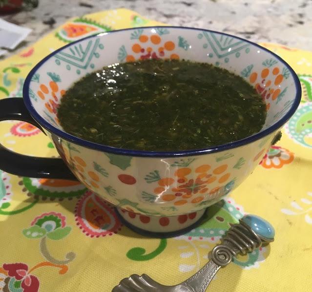 molokhia green soup
