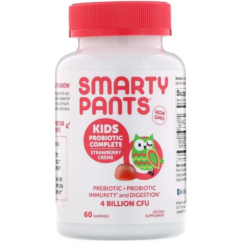 SmartyPants, Комплекс пробиотиков для детей, клубничный крем, 60 жевательных таблеток
