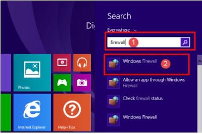 Windows Firewall di windows 8.1