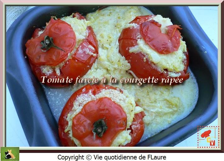 Vie quotidienne de FLaure: Tomate farcie à la courgette râpée