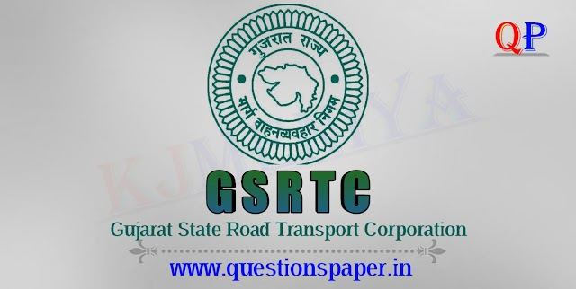 GSRTC Traffic Controller Exam Question Paper (24-11-2019)