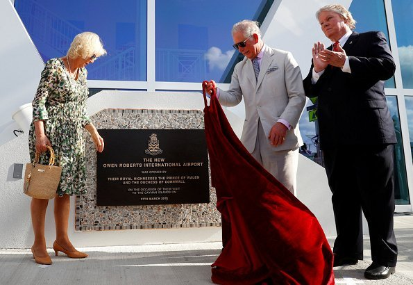 The Duke and the Duchess attended the opening of a new terminal at the Owen Roberts International Airport in George Town