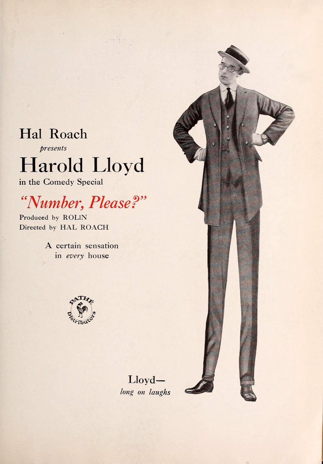 Póster Cortometraje ¿Número, por favor? de Harold Lloyd