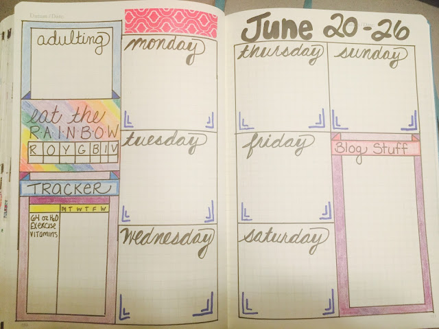 Organizing tasks using a bullet journal!