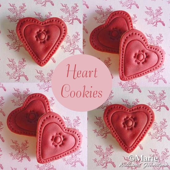How to Make Red Fondant Heart Shaped Cookies Tutorial Valentine's Day Bake Make Instructions Sweet Treat