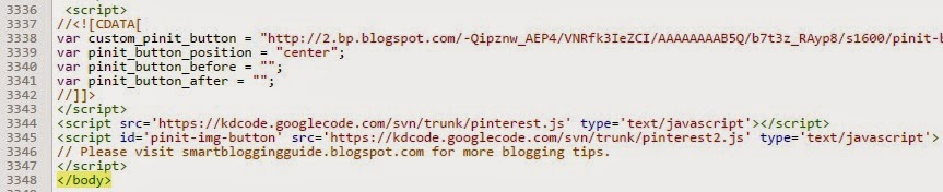 Add pinterest pin it button on your blog